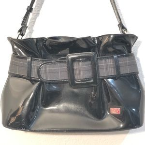 Beijo couture black / buckle patent leather bag